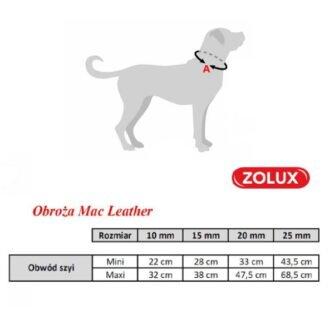 ZOLUX Obroża regulowana Mac Leather