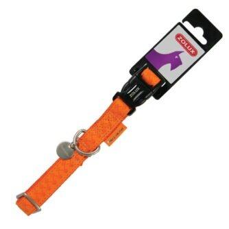 ZOLUX Obroża regulowana Mac Leather 25 mm kol. pomarańczowy