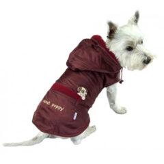 płaszcz przeciwdeszczowy dla psa bordo