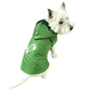 płaszcz przeciwdeszczowy dla psa zielony