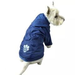 kurtka dla psa przeciwdeszczowa niebieska