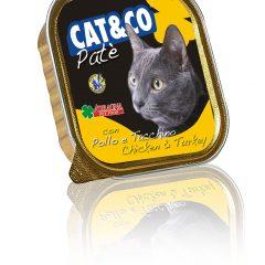 Cat&Co pasztet z kurczakiem i indykiem 100g