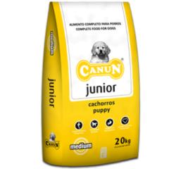 Karma dla psa Canun Junior 20kg dla młodych psów z kurczakiem (30%), ryżem i witaminami